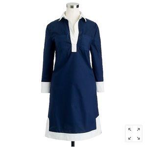 J. Crew Navy Camp Tunic Dress Size 0